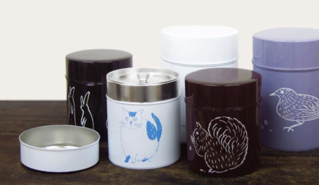 5. 動物のイラストが可愛いコーヒーキャニスター「オリーブアベニュー コーヒー缶」
