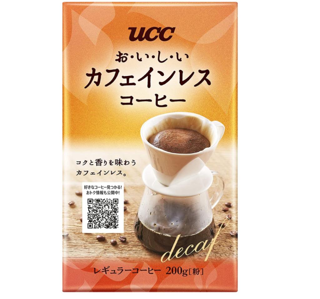 3. 風味豊かなカフェインレスコーヒー「UCC おいしいカフェインレスコーヒー コーヒー豆(粉)」