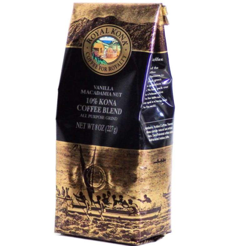 2. バニラの甘い香りが特徴のコーヒー粉「ロイヤルコナ バニラマカダミアナッツ」