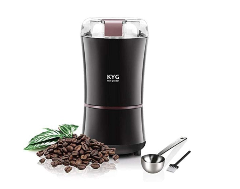 8. コンパクトサイズで持ち運びにも便利なコーヒーミル「KYG 電動コーヒーミル 3503」
