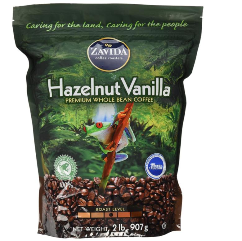 2. 甘いフレーバーが香るコストコのコーヒー豆「ザビダ ヘーゼルナッツ バニラホールビーン」