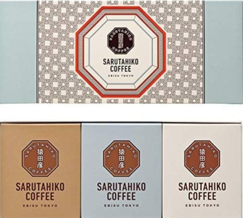 2. オリジナルのデザインが可愛いコーヒーギフト「猿田彦珈琲 ドリップコーヒー詰合せ」