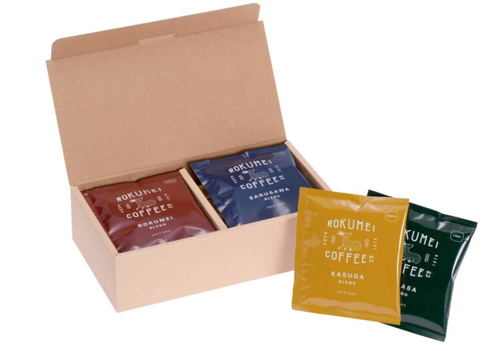 1. おしゃれで定番のコーヒーギフトセット「ロクメイコーヒー ドリップバッグ 10pcs」