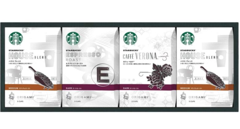 3. 手軽なドリップバッグのコーヒーギフト「スタバ オリガミパーソナル ドリップコーヒー」