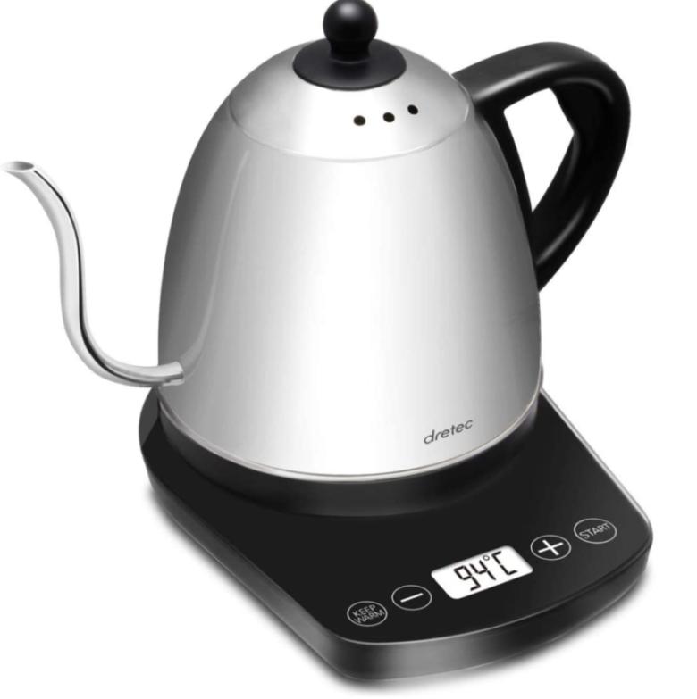 ドリテック 温度調節付 電気ケトル ステンレス コーヒー