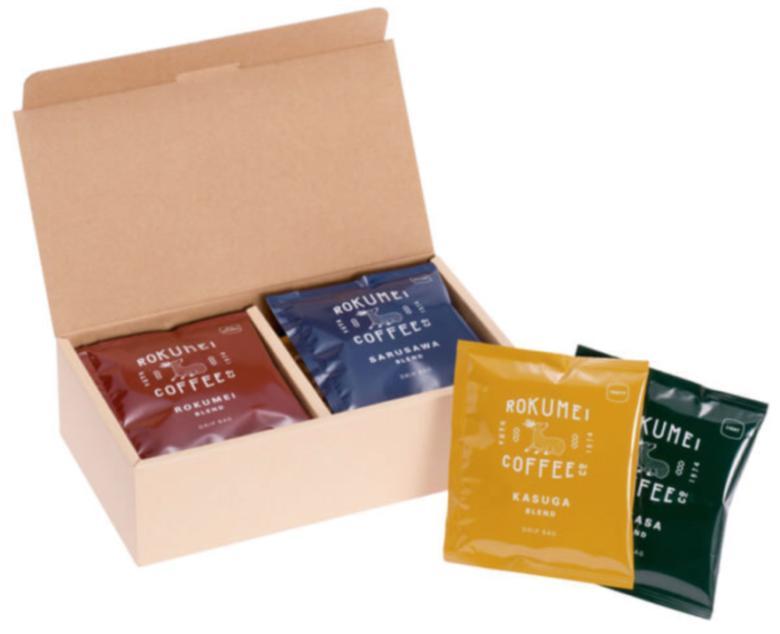 ロクメイコーヒー ギフト 日常を豊かにする4種のブレンド ドリップバッグ 10pcs