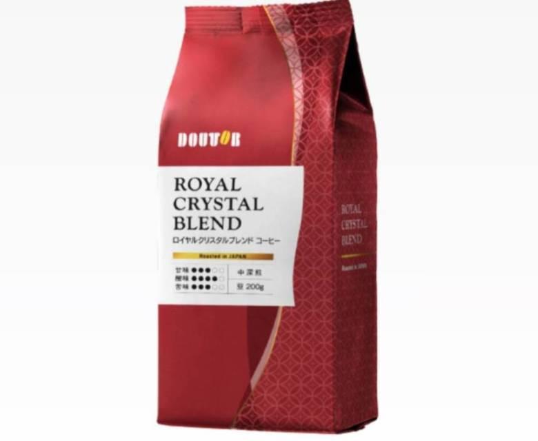 ロイヤルクリスタルブレンドコーヒー 中深煎り 200g
