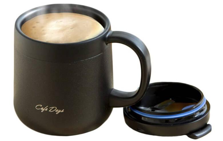 アイリスオーヤマ カフェデイズ 2wayふた付きマグカップ