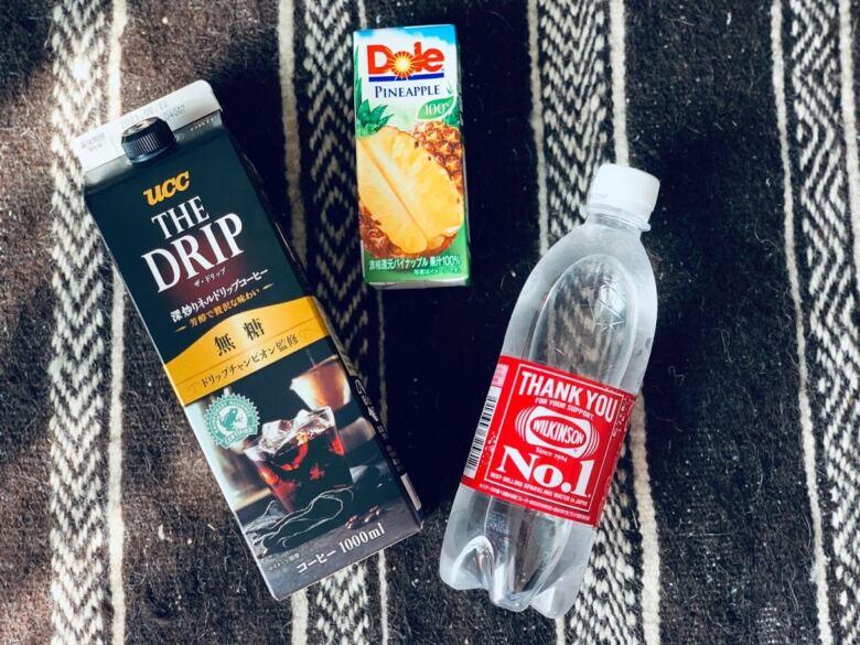 コーヒー+炭酸+パイナップルジュース