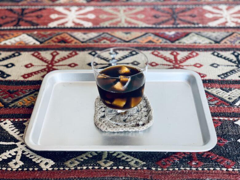 コーヒー+炭酸+冷凍マンゴー
