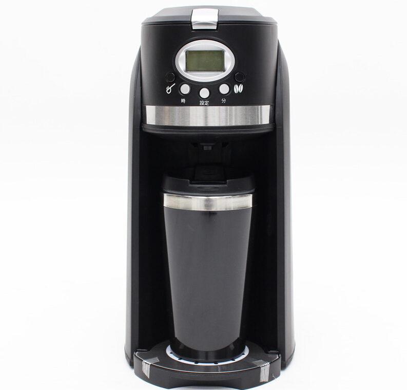 13. タンブラー付きでお家時間にぴったり「ヒロコーポレーション パーソナル全自動コーヒーメーカー CM-502E」